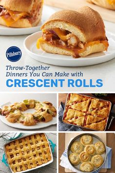 17 Throw-Together Dinners You Can Make with Crescent Rolls Quick Easy Meals, Easy Dinner Recipes, Dessert Recipes, Dinner Ideas, Desserts, Crescent Roll Recipes, Crescent Rolls, Parchment Paper Baking, Pillsbury Recipes