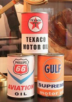 Vintage Oil Can Candles..print labels and mod podge to soup cans