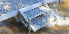 Aluminum Dock Stairs - Great Northern Docks