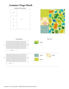 Summer Daze quilt block from Passages Quilt Patterns