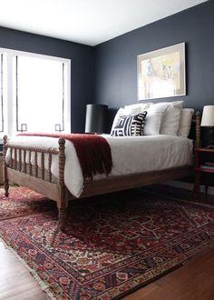 Hale Navy Bedroom Decor Kid Rooms Navy Bedrooms Home Bedroom Small Master Bedroom, Master Bedroom Design, Home Bedroom, Bedroom Carpet, Bedroom Ideas, Bedroom Designs, Bedroom Inspiration, Bedroom Simple, Bedroom Rugs