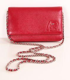 Red Chanel Shoulder Bag.