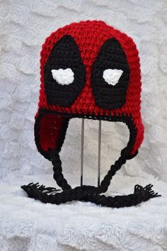 Check out this item in my Etsy shop https://www.etsy.com/ca/listing/268527662/deadpool-crochet-hat-pattern-superhero