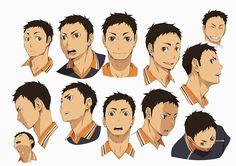 Nuevos diseños de personajes del Anime Haikyuu!!