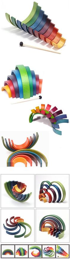 Coolest thing I've seen in awhile.   Naef Rainbow Wooden Musical Toy and Puzzle | NOVA68 Modern Design