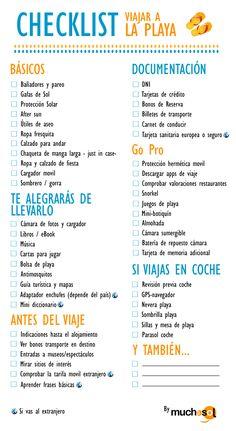 Checklist viajar a la playa #beach #help #checklist