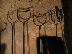 torture devices, via Flickr. These pitchfork-like devices went around prisoners' necks and made it quite easy to guide them around.