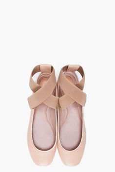 ballet flats that look like pointe shoes