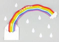 Geburtstags-Einladung mit Regenbogen | DIY LOVE