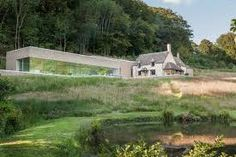 Image result for modern extension on old house