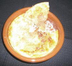 ROMANO-BRITISH BAKED EGG CUSTARD - This Roman dish was served at the end of a meal. It could be served hot and was usually sprinkled with spice. Pepper was particularly popular with this dish but you may prefer nutmeg.It could also be cooled until it set, then turned out and served in firm chunks.    (cookit.e2bn.org)