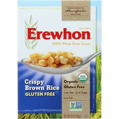 Erewhon Cereal - Organic - Crispy Brown Rice - Gluten Free - 10 oz - case of 12