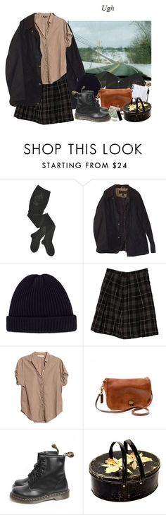"""""""delivery"""" by paper-freckles ❤ liked on Polyvore featuring HYD, Barbour, Acne Studios, Xirena, Dr. Martens and GAS Jeans"""