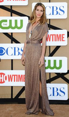 Dawn Olivieri attending the CBS, Showtime and The CW 2013 Annual Summer Stars Party at The Beverly Hilton Hotel in Beverly Hills, California - July 29, 2013 - Photo: Runway Manhattan/Bauer-Griffin