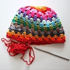 Crochet+For+Children:+How+to+crochet+a+lovely+rainbow+hat+(Free+pattern)...