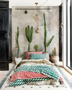 ONLY the bed patern isn't for me. A Moroccan Mansion That's Giving Us Serious Design Inspo Bohemian Bedroom Decor, Hippie Chic Decor, Decoration Design, House Design, Interior Design, Room Interior, Miranda Green, Decor Ideas, Decorating Ideas