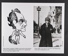 Gustav Mahler, caricatured by Enrico Caruso