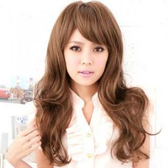 Long Full Wigs - Wavy Light Brown - One Size