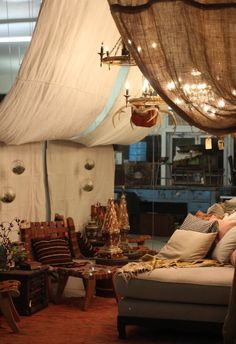 We've created our very own urban 'glamping' corner in the showroom! It is everyone's new favorite spot to hang out a.