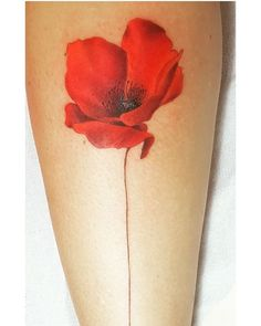 Poppy tattoo, watercolor poppy tattoo, poppies tattoo, up tattoos Watercolor Poppy Tattoo, Red Poppy Tattoo, Poppies Tattoo, Watercolor Poppies, Poppy Flower Tattoo Small, Red Poppies, Up Tattoos, Finger Tattoos, Body Art Tattoos