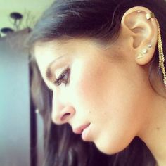 Gold Delicate Ear Cuff - just edgy enough