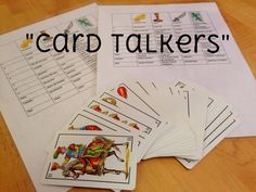 """Card Talkers""  Activity to practice questions and answers in Spanish.  Also, teaches what the Spanish deck of cards is all about {La Baraja}.  Free printables!"