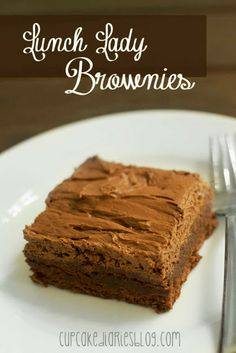 Lunch Lady Brownies | cupcakediariesblog.com