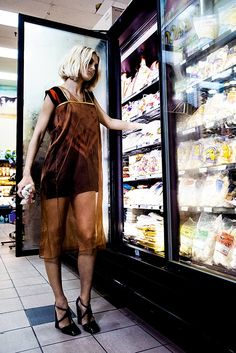 Supermarket Fashion ♥ http://duchessdior.tumblr.com/post/98328834459/jessica-stam-for-harpers-bazaar-russia-october