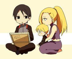 Sai, Ino and their son, Inojin