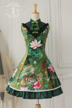 Miss Point ***Lotus Shadow***Qi Lolita Jumper Dress