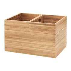IKEA - DRAGAN, Box 3er-Set, , Bambus ist ein strapazierfähiges Naturmaterial.Geeignet für Haarspangen, Schmuck usw.
