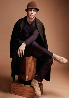 Kit Butler shot by Paul Scala and styled by Jonathan Ailwood, for the latest issue of Woolmark's magazine Wool.