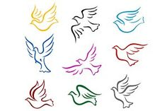 Royalty-free vector clipart illustration logos of colorful peace doves. This doves stock logo image was designed and digitally rendered by Vector Tradition SM. Free Vector Clipart, Free Clipart Images, Vector Art, Dove Tattoos, Tattoos Skull, Bird Tattoos, Celtic Tattoos, Animal Tattoos, Sleeve Tattoos