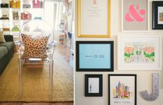 mixed frame gallery wall