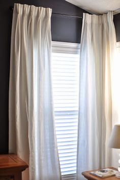Make Ikea Ritva curtains into french pleats :: no sewing required!