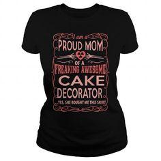 CAKE DECORATOR T Shirts, Hoodies. Check price ==► https://www.sunfrog.com/LifeStyle/CAKE-DECORATOR-117264097-Black-Ladies.html?41382 $23