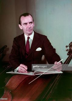 News Photo : Sir Malcolm Sargent, British composer,. French Horn, Still Image, Musicians, British, Portrait, News, Men Portrait, Portrait Illustration, Music Artists