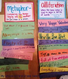round robin poetry activity for easy assessment.