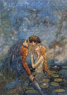 Illustrations, Illustration Art, Fairytale Art, Classical Art, Mermaid Art, Renaissance Art, Art Plastique, Pretty Art, Aesthetic Art