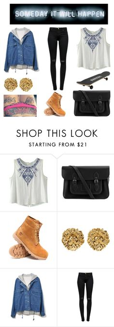 """""""My money good, sh*t we buying off the bar right now, right now. Who got the weed right now, right now!♫"""" by shaimae ❤ liked on Polyvore featuring Ferrari, The Cambridge Satchel Company, Timberland, Versus and J Brand"""