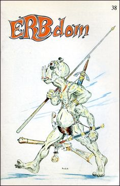 ERBdom (Burroughs Fanzine) 38 - Publisher: Camille Cazedessus, Jr  Published: September 1970, Cover Art by Danny Frolich