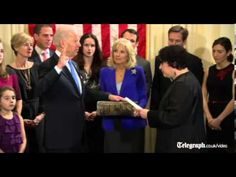 Joe Biden has taken the oath of office for his second term at a small ceremony     at his official residence.