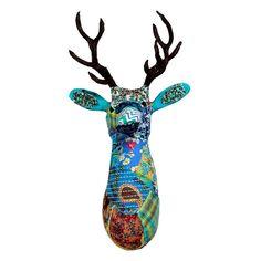 Paper mache on iron frame, gotta try. Deer.