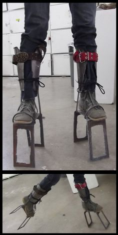 Steel Stilts. I need these for outdoor concerts!