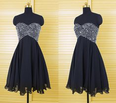 Black Homecoming Dress Short Prom Dress Party Gown pst0836