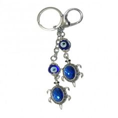 This beautiful and cute Key chain with Evil Eye protection enmeshed with Tortoise is a feng shui and ancient cure for warding off the evil eye and negative energies thus bringing in the positive energies. Made of metal, it provides total protection against evil influences and ensures longevity of its owners. All this in a beautiful finish. Now carry this lucky charm where ever you go.
