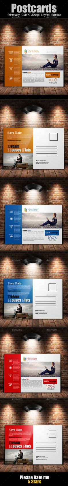 Multi Use Business Post Cards Template
