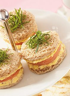 Receta: Sándwiches rellenos de huevo