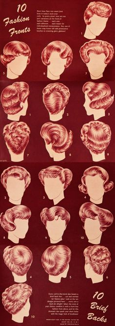 Popular Hairstyles 1950s