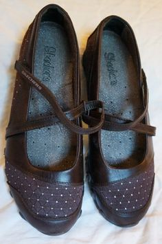 Awesome Skechers Bikers Brown Mary Janes 7.5M EUC